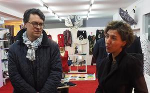 F.-X. Brunet, Président de la CCI - G. Vallin, Présidente de l\'association des commerçants d\'Argelès-Gazost